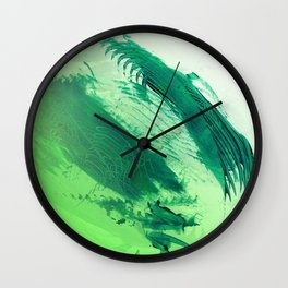 Green Smear Wall Clock