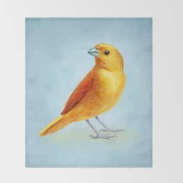 Wild Canary Throw Blanket