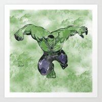 hulk Art Prints featuring Hulk by DanielBergerDesign