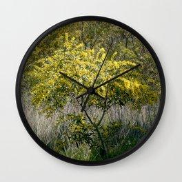 Flowering Acacia Tree Wall Clock
