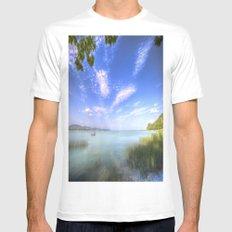 Lake Balaton Hungary White MEDIUM Mens Fitted Tee