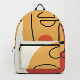 Abstract Face 20 Backpack
