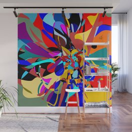 Flora Abstract Wall Mural