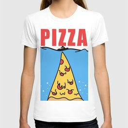 Pizza Jaws Movie Parody T-shirt