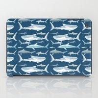 sharks iPad Cases featuring Sharks by Miranda Montes