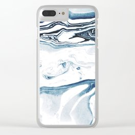 Marble fade Clear iPhone Case
