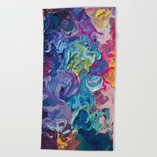 Aurora Swirls Beach Towel