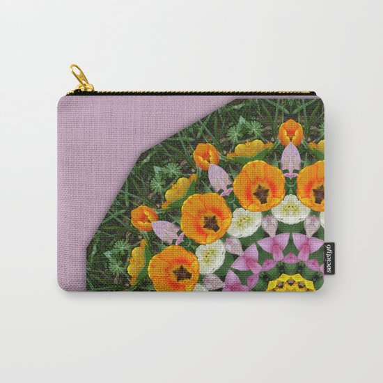 Tulips Nature, Flower-Mandala Carry-All Pouch