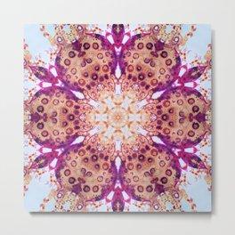 mandala of bugs Metal Print