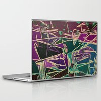 batik Laptop & iPad Skins featuring Batik Cave by Glanoramay