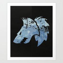 Wolves on the horizon Art Print