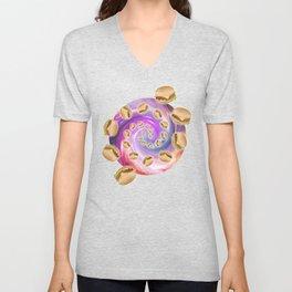 Spiral Galaxy of Burgers  Unisex V-Neck