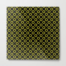 Yellow Rings with Black Background Metal Print