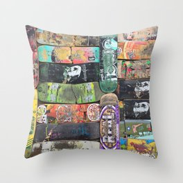 Boards were made to  be broken Throw Pillow