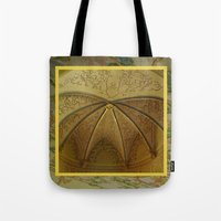 antique Tote Bags featuring Antique by Herzensdinge
