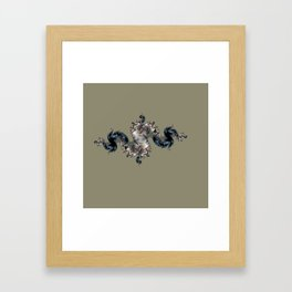 figure on the background Framed Art Print