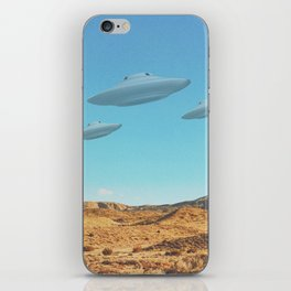 UFO in a California Desert with abandoned objects iPhone Skin