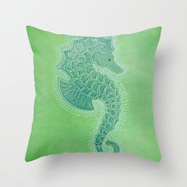 I Spotted a Seahorse Throw Pillow