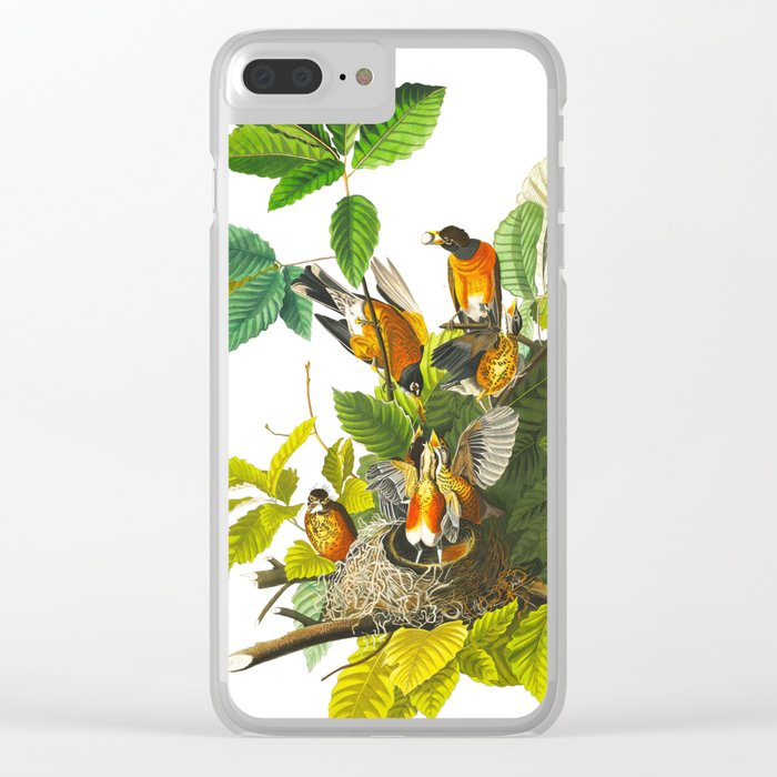 Vintage Scientific Bird Botanical Illustration Clear iPhone Case
