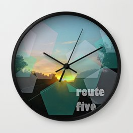 route five Wall Clock