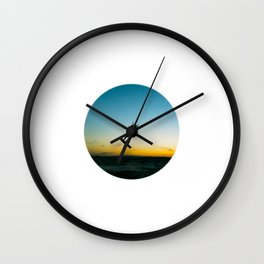 """LAUNCH""  kitesurf . kite . surf Wall Clock"