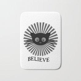 belive - Funny Cat Saying Bath Mat