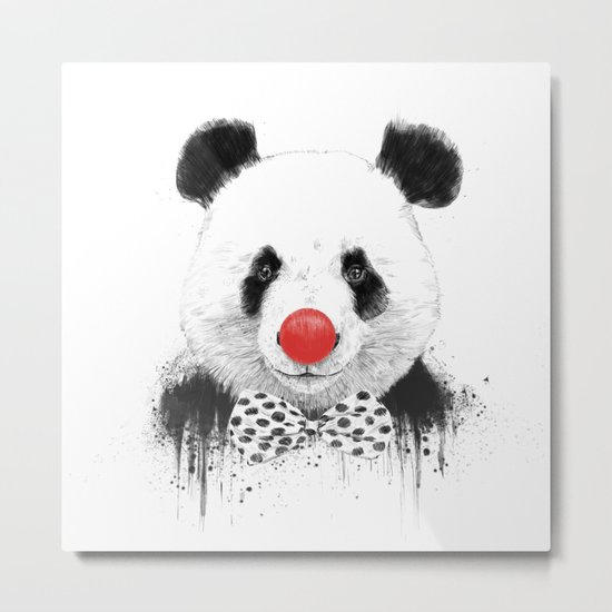 Clown panda Metal Print