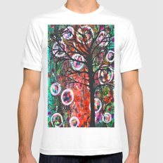 Abstract Tree Mens Fitted Tee White MEDIUM