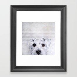Schnauzer original Dog original painting print Framed Art Print