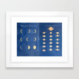 17th-Century Astronomical Art by Maria Clara Eimmart: Phases of Venus and Saturn Framed Art Print