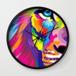 LION-FACE-ART Wall Clock