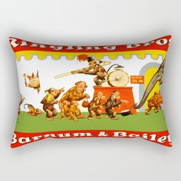 Retro Circus Poster - Monkeys Rectangular Pillow