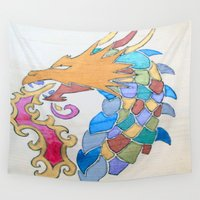 metallic Wall Tapestries featuring Metallic Dragon by J&C Creations
