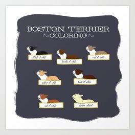 Bostons Coloring Art Print