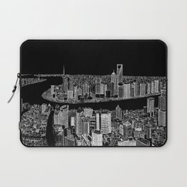 Shanghai in BW Laptop Sleeve