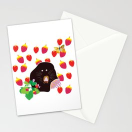 Cute Garden Mole Stationery Cards