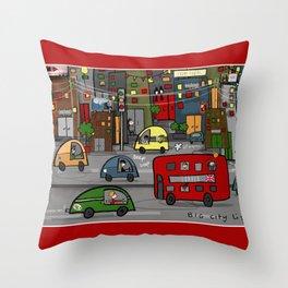 Big City Life Throw Pillow
