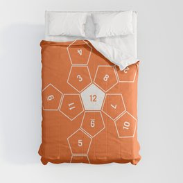 Orange Unrolled D12 Comforters