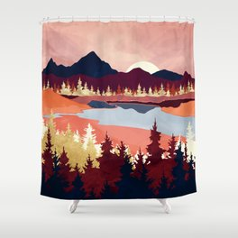 Grapefruit Sky Shower Curtain