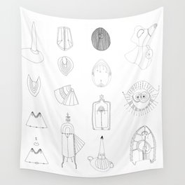 Drawing - Figures #01 Wall Tapestry