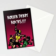 Roller derby xx Stationery Cards