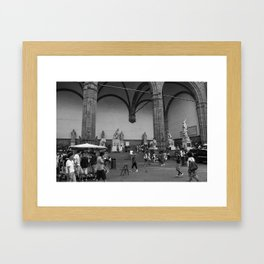 Loggia dei Lanzi Framed Art Print