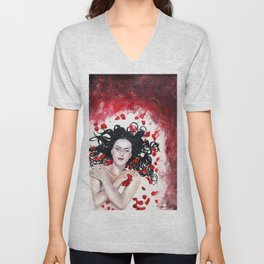 Snow White Unisex V-Neck