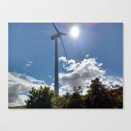 Wind Farm in the Sun Canvas Print