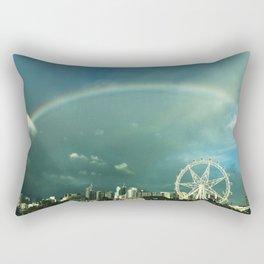 Rainbow over Melbourne Rectangular Pillow