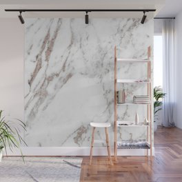 Rose gold shimmer vein marble Wall Mural