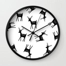 Scandi deer Wall Clock