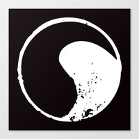 ying yang Canvas Prints featuring Ying Yang by jajoão