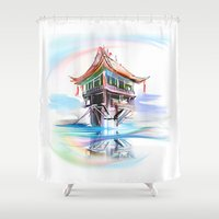 vietnam Shower Curtains featuring Vietnam by tatiana-teni