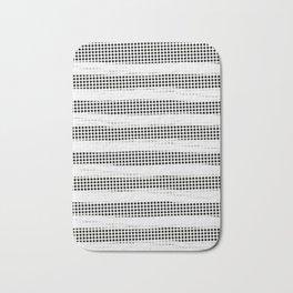 Black Diamonds Gross Stripes /Strokes/Lines Bath Mat